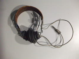 Headphones used with a BC-221-T Frequency Meter