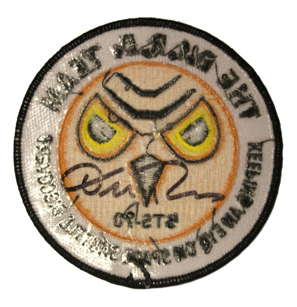 image The B.I.R.D Team Mission Patch (back signed by Don Thomas)