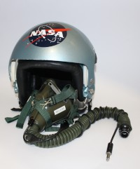 Piers Sellers' NASA T-38 Flight Helmet and Oxygen Mask